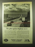 1970 Dorsey Trailers Ad - Plot Against Highway Users