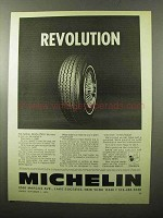 1970 Michelin-X Radial Tires Ad - Revolution