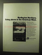 1970 Burlington Northern Railway Ad - Going Places