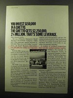 1970 Minority Business Enterprise U.S. Dept Commerce Ad