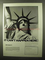 1970 American Civil Liberties Union Ad - Can't Happen