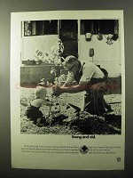 1970 American Red Cross Ad - Young and Old