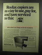 1970 Royfax 1700 Copier Ad - Easy to Use, Pay For
