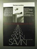 1970 Savin Copiers Ad - The Love Machine