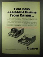 1970 Canon Canola 164P and Canola EP150 Calculators Ad