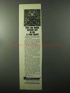 1970 Manpower Technical Services Division Advertisement - Teddy