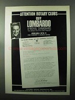 1970 Columbia Artists Theatricals Ad - Guy Lombardo