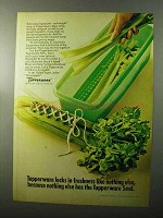 1970 Tupperware Easy-Crisp Ad - Locks in Freshness