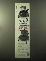 1970 Hoover Electric Fondue Set Ad - A Fry Pan