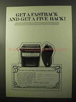 1970 Sunbeam Fastback Shaver Ad - Get a Five Back