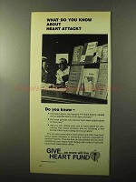 1970 Heart Fund Ad - Do You Know About Heart Attack