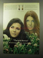 1970 Clairol Loving Care Hair Color Ad - Irish Browns