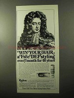 1970 Dep for Men Ad - Win a Free Styling