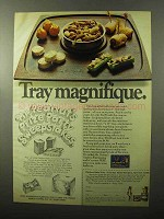 1970 Planters Nuts Ad - Tray Magnifique