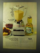 1970 Kraft Oil Ad - Can Chop Stir Grate Liquefy Blend