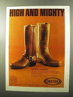 1970 Dexter High Rider Boots Ad - W851-3 and W850-5