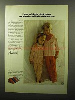 1970 Carters Winter Brights Sleepers Ad - Soft Things