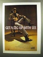 1970 Lee Flares Ad - Get a Leg Up With Lee