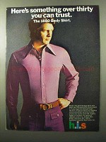 1970 h.i.s. 1880 Body Shirt Ad - Something Over Thirty
