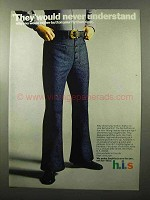 1970 h.i.s. Swabby Jeans Ad - Never Understand