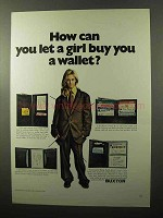 1970 Buxton Wallets Ad - Pocket Secretary, Card Master
