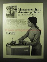1970 Oasis Hot 'N Cold Water Cooler Ad - Management