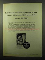 1970 Warner & Swasey Lahr Deep Hole Drilling Machine Ad - Minimum Wage