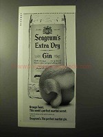1970 Seagram's Extra Dry Gin Ad - Orange Twist