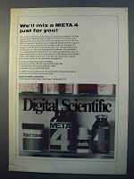 1970 Digital Scientifc Ad - We'll Mix a Meta 4 for You