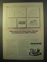 1970 Calcomp Plotter Ad - Which of These Drawings