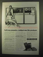 1970 Calcomp 1670 COM System Plotter / Printer Ad