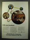 1970 General Electric GE-600 Line System Computers Ad