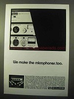1970 Shure Ad - We make the Microphones Too
