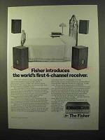 1970 Fisher 701 4-Channel Receiver Ad - World's First