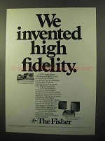 1970 Fisher 3580 Compact Stereo System Ad - We Invented
