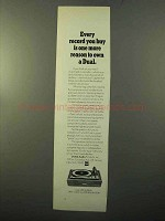 1970 Dual 1209 Turntable Ad - Every Record You Buy