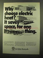 1970 Edison Electric Institute Ad - It Saves Space