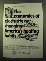 1970 Edison Electric Institute Ad - Changing Habits