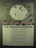 1970 Ohio Edison Ad - Some Wild Geese Worth the Chase