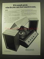 1970 Sylvania Model MM12 Stereo Ad - It Sounds Great