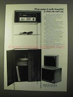 1970 Sylvania Stereo Ad - Tuner, Speakers, Turntable
