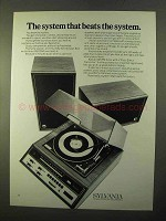 1970 Sylvania MS220W Stereo Ad - Beats the System