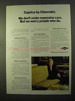 1970 Chevrolet Caprice Ad - We Don't Make Expensive