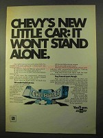 1970 Chevrolet Cars Ad - It Won't Stand Alone