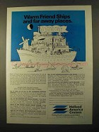 1970 Holland America Cruises Ad - Warm Friend Ships