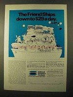 1970 Holland America Cruises Ad - Down to $29 a Day