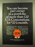 1970 IDS Investors Diversified Services Ad - Part Owner