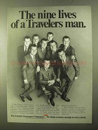 1970 Travelers Insurance Ad - The Nine Lives Of