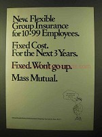 1970 Massachusetts Mutual Life Insurance Ad - Flexible
