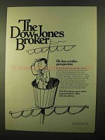 1970 Dow Jones Ad - He Has a Wider Perspective